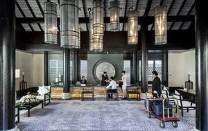 中式高级五星级酒店大堂设计效果图