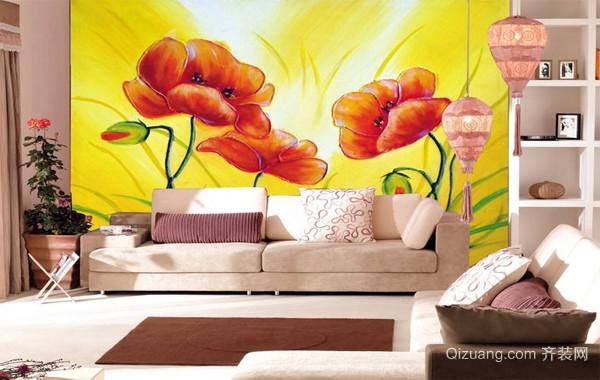 2016唯美的现代欧式室内墙绘装修效果图实例