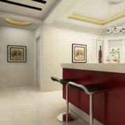 110平米舒适的大户型欧式室内吧台装修效果图
