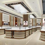高大上的大户型精品店铺珠宝展示柜图片