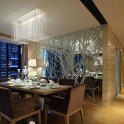 简单餐厅艺术玻璃装饰