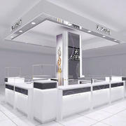 商场现代简约银饰展示柜图片