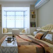 现代日式风格小户型榻榻米卧室装修效果图