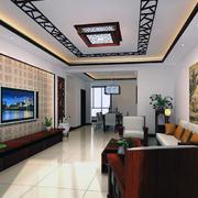 现代客厅电视背景墙