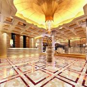 豪华简欧风格商务酒店大堂设计效果图
