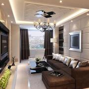 优雅大客厅吊灯图片