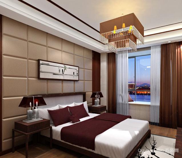 2016小户型现代简约卧室软包背景墙装修效果图