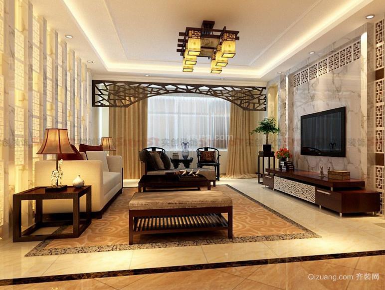 2016大户型欧式客厅装修壁纸效果图片