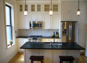 北欧时尚家居开放式整体厨房装修效果图