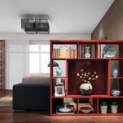 现代室内 吊顶整体图