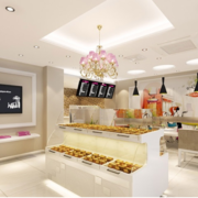 2016现代室内蛋糕店设计装修效果图鉴赏