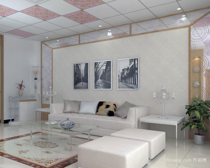 100平米大户型欧式客厅功能沙发背景墙装修效果图