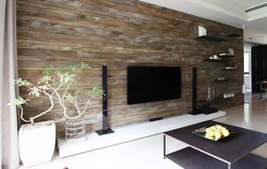 家庭客厅生态木电视背景墙