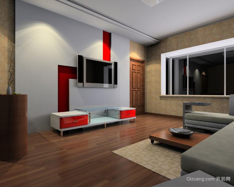 简欧风格大户型电视机背景墙装修效果图鉴赏