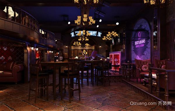 2016混搭复古小酒吧装修效果图片