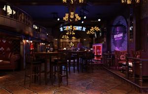 美式风格的酒吧展示
