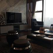 男士公寓电视墙展示
