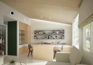 现代浅色调阁楼书房装修效果图大全