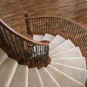 实木玄关楼梯展示