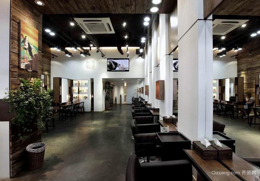 浅色调都市简约大户型理发店装修图 齐装网装修效果图 -颜色