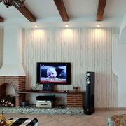 白色生态木电视背景