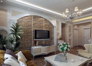 120平米大户型欧式家装室内电视墙装修效果图