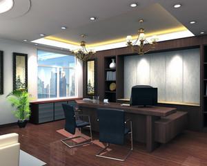2016精致的现代老板办公室装修实景效果图鉴赏