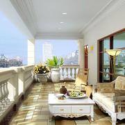 简欧风格三居室露台花园装修效果图