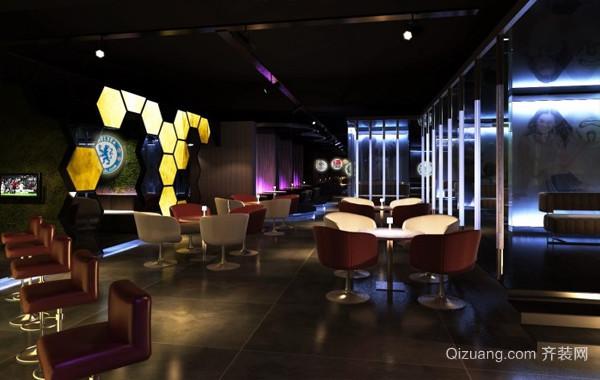 潮流前线:现代特色酒吧装修效果图片