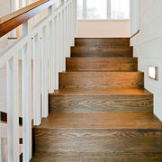 现代家居实木楼梯