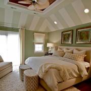 复式楼阁楼小清新卧室装修效果图大全