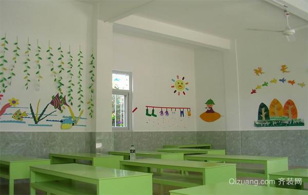 2016现代幼儿园布置教室吊顶装修效果图图片