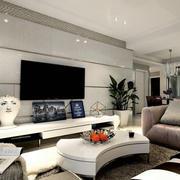 简单时尚电视墙欣赏