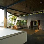 泰国海景大户型别墅露台装修效果图