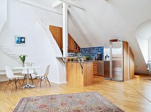个性北欧式阁楼小厨房装修效果图大全