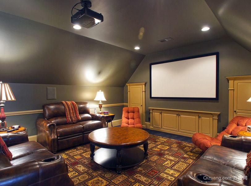 简约美式小阁楼家庭影院装修效果图大全