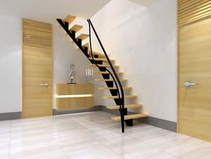 都市130平米跃层住宅楼梯设计装修效果