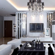 白色时髦电视墙欣赏