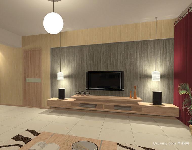 90平米大户型欧式家装客厅背景墙装修效果图