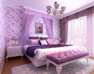 60平米小户型欧式风格室内卧室装修设计效果图