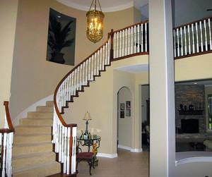 2016唯美大方的大户型欧式家庭楼梯装修效果图