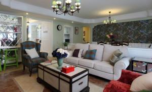 80平米小户型简欧风格沙发背景墙装修效果图