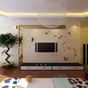 清凉现代电视墙展示
