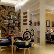 90平米大户型经典造型简约式餐厅装修效果图