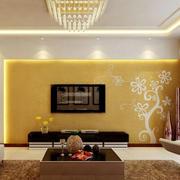 黄色靓丽电视墙