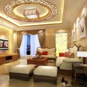 90平米大户型精致的欧式家装客厅装修效果图