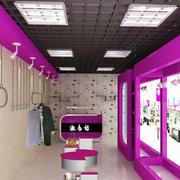 都市现代服装店展示