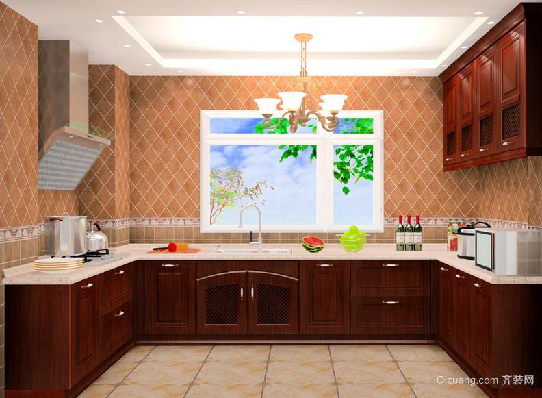 2016大户型欧式精美家庭厨房装修效果图鉴赏