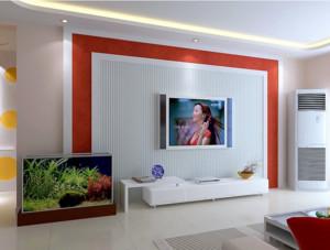 90平米大户型舒适经济欧式客厅影视墙装修效果图