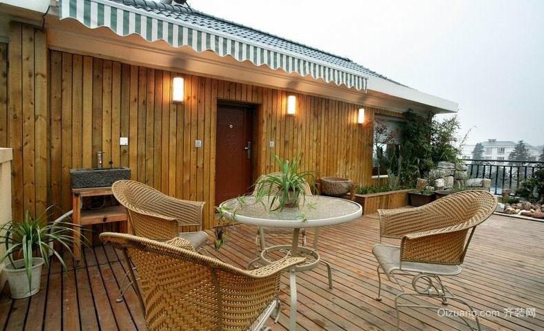 2016独栋别墅自然露台花园装修效果图